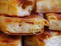 Homemade cheese strudel Stock Image