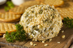 Homemade Cheeseball with Nuts Stock Images