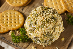 Homemade Cheeseball with Nuts Royalty Free Stock Photos