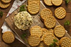 Homemade Cheeseball with Nuts Royalty Free Stock Photo