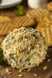 Homemade Cheeseball with Nuts Royalty Free Stock Photos