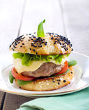 Homemade cheeseburger Royalty Free Stock Image