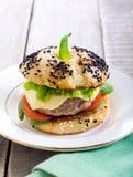Homemade cheeseburger Stock Photography