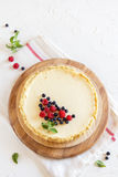 Homemade cheesecake with fresh berries Stock Photos