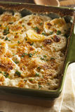Homemade Cheesey Scalloped Potatoes. With Parsley Flakes Stock Images