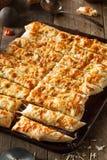 Homemade Cheesy Breadsticks with Marinara Royalty Free Stock Photo
