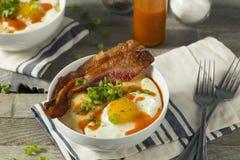Homemade Cheesy Breakfast Grits Stock Photos