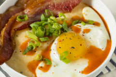 Homemade Cheesy Breakfast Grits Royalty Free Stock Images