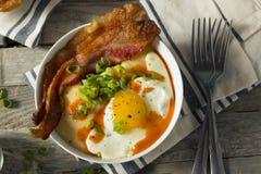 Homemade Cheesy Breakfast Grits Stock Image