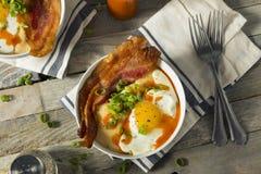 Homemade Cheesy Breakfast Grits Royalty Free Stock Photos