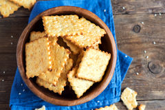 Homemade cheesy crackers Royalty Free Stock Photo