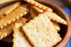 Homemade cheesy crackers Stock Photography
