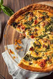 Homemade Cheesy Egg Quiche for Brunch Royalty Free Stock Images