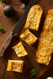 Homemade Cheesy Garlic Bread Royalty Free Stock Images
