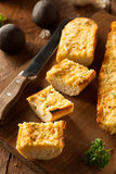 Homemade Cheesy Garlic Bread Stock Photography