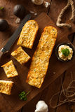 Homemade Cheesy Garlic Bread Royalty Free Stock Photography