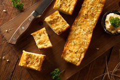 Homemade Cheesy Garlic Bread Royalty Free Stock Photos