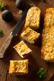 Homemade Cheesy Garlic Bread Stock Image