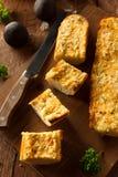 Homemade Cheesy Garlic Bread Stock Image