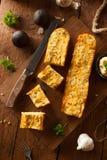 Homemade Cheesy Garlic Bread Stock Photos