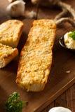 Homemade Cheesy Garlic Bread Royalty Free Stock Images