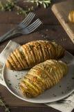 Homemade Cheesy Hasselback Potato Royalty Free Stock Images