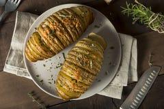Homemade Cheesy Hasselback Potato Royalty Free Stock Photo
