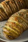 Homemade Cheesy Hasselback Potato Royalty Free Stock Photography