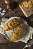 Homemade Cheesy Hasselback Potato Stock Photography