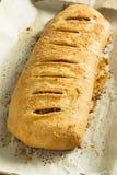 Homemade Cheesy and Meaty Italian Stromboli Stock Images