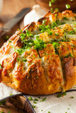 Homemade Cheesy Pull Apart Bread Stock Photos