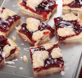 Homemade Cherry Bars Stock Photos