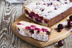 Homemade cherry cake Stock Photos