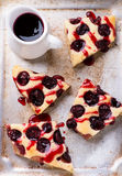 Homemade cherry cake with sauce Royalty Free Stock Photo