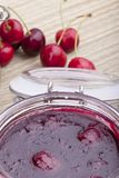 Homemade cherry jam Stock Images
