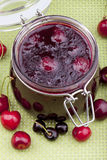 Homemade cherry jam Royalty Free Stock Photography
