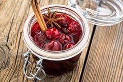 Homemade cherry jam Royalty Free Stock Photo