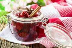 Homemade cherry jam Royalty Free Stock Images