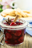 Homemade cherry jam Stock Photography