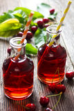 Homemade Cherry Juice Stock Images