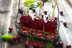 Homemade Cherry Juice Royalty Free Stock Images