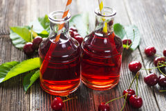 Homemade Cherry Juice Stock Photos