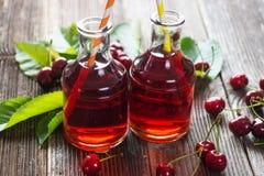 Homemade Cherry Juice Stock Photos