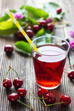 Homemade Cherry Juice Stock Image