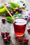 Homemade Cherry Juice Stock Image