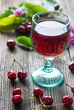 Homemade Cherry Juice Royalty Free Stock Photo