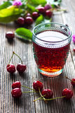 Homemade Cherry Juice Stock Photography