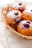 Homemade Cherry Muffins Stock Images