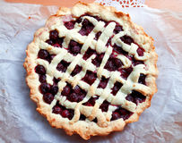 Homemade cherry pie Stock Photography