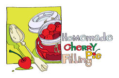 Homemade cherry pie filling Stock Photography